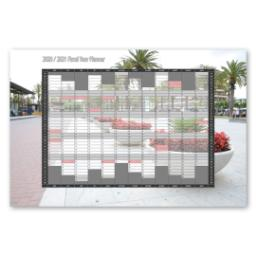 "Thumbnail for Tabular Year Planner, Financial, 24"" x 16"" with 2020/2021 Financial Planner design 1"